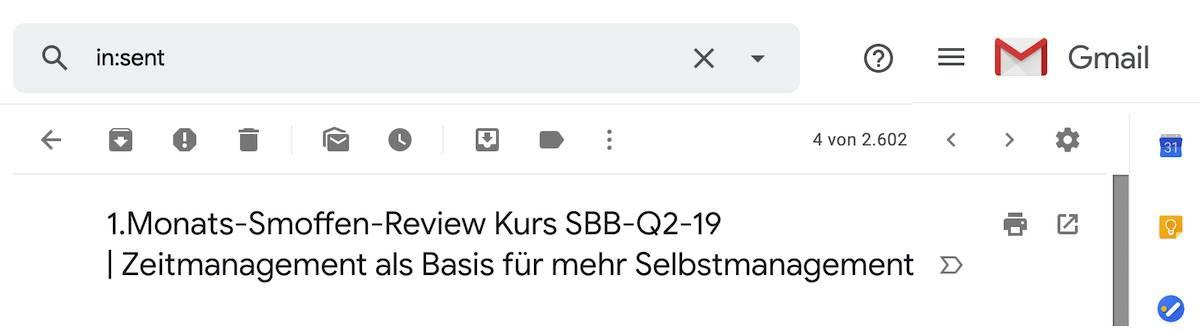 Smart Selbstmanagement Kurs E-Mail -19-4-2019