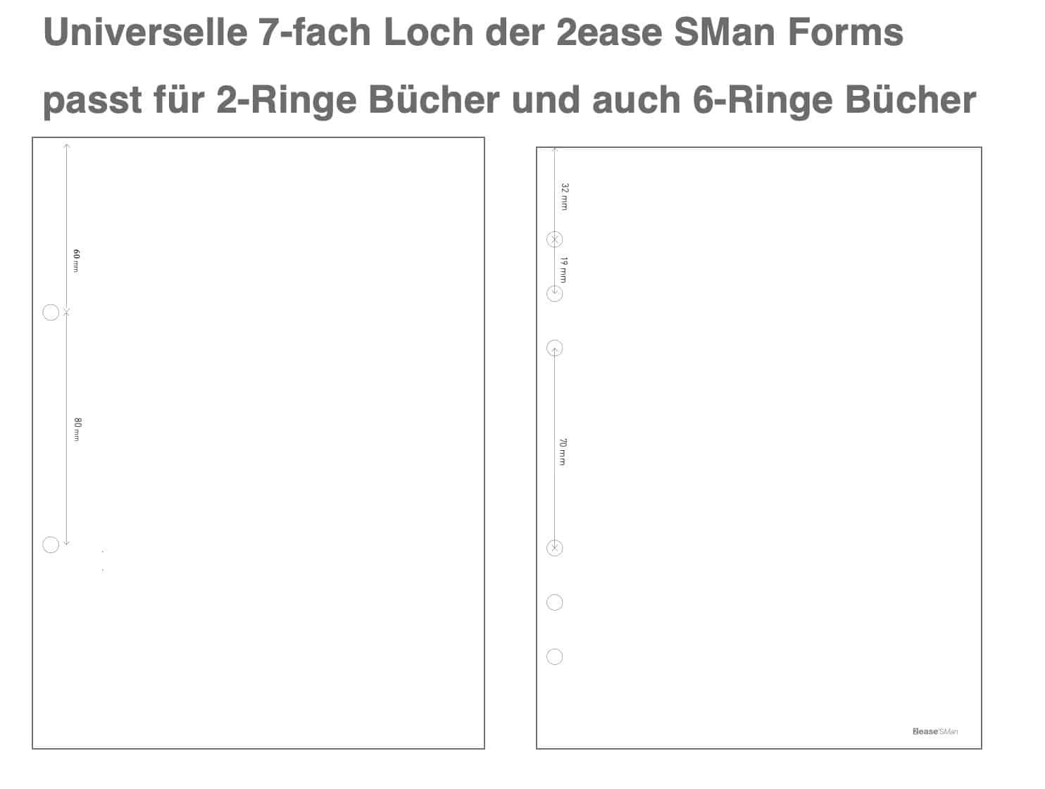 Lochmuster 2ease SMan Blätter